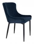 Boston Spisebordstol - Mørkeblå Velour