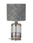 Ebb&Flow - Pillar lampefot, platin stripes/smokey grå, Sølv base