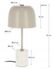 Kave Home Alish Bordlampe m. marmor - Beige