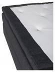 Rättvik 5-zoners Kontinentalseng Fast/Fast, Mørkegrå stoff, 160x200