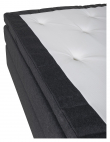 Rättvik 5-zoners Kontinentalseng Medium/Medium, Mørkegrå stoff, 160x200