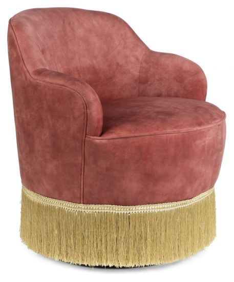 Fringe Me Up Loungestol - Rosa Velour