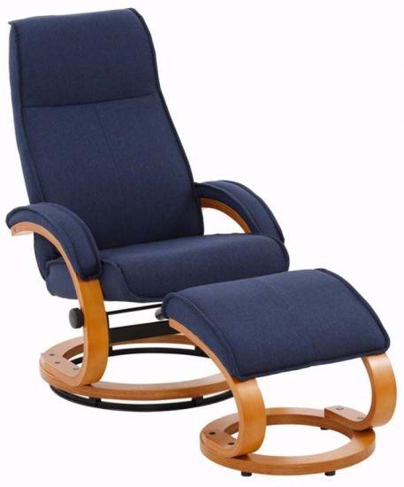 Paprika Hvilestol med krakk Blå Stoff