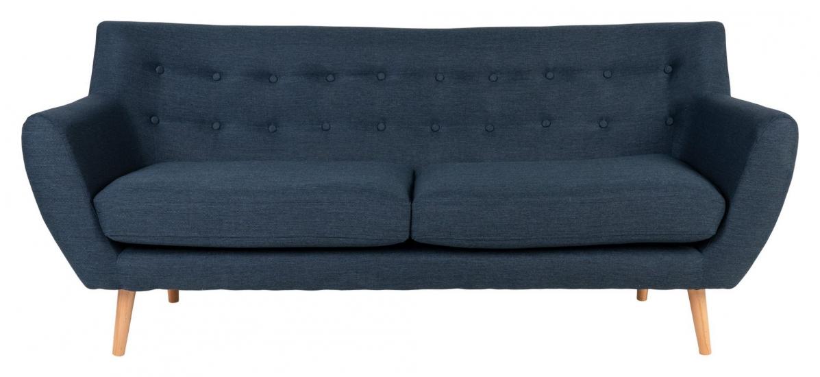 Monte 3-pers, Sofa - Mørkeblå med Treben