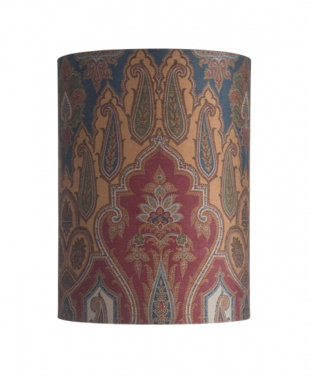 Ebb&Flow - Lampeskjerm, brocade, blue/red, Ø30, bordlampe