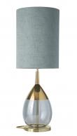 Ebb&Flow - Lute lampefot, topaz blue/Gull, Gull base