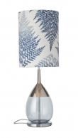 Ebb&Flow - Lute lampefot, topaz blue/platin, Sølv base