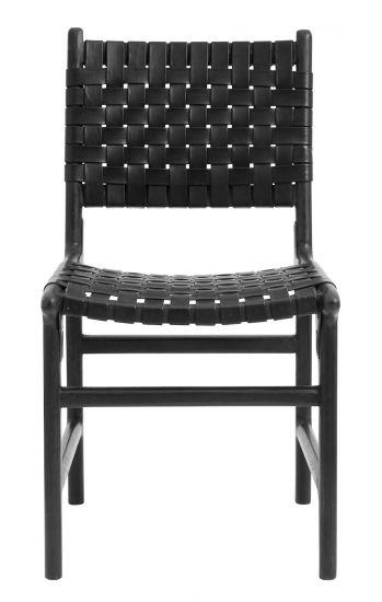 Nordal Spisebordstol - Sort Flettet Lær