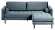 Kave Home Debra 3-pers. Sofa m. Puff - Turkis Velour