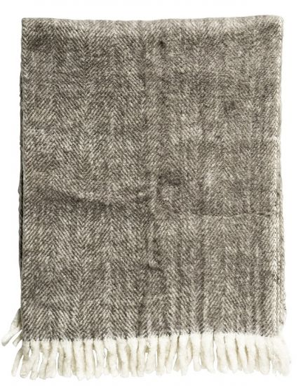 Bloomingville - Ullpledd - Brun 125x150