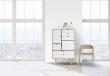 Andersen Furniture - S5 Høyskjenk - Eik såpe - Hvit