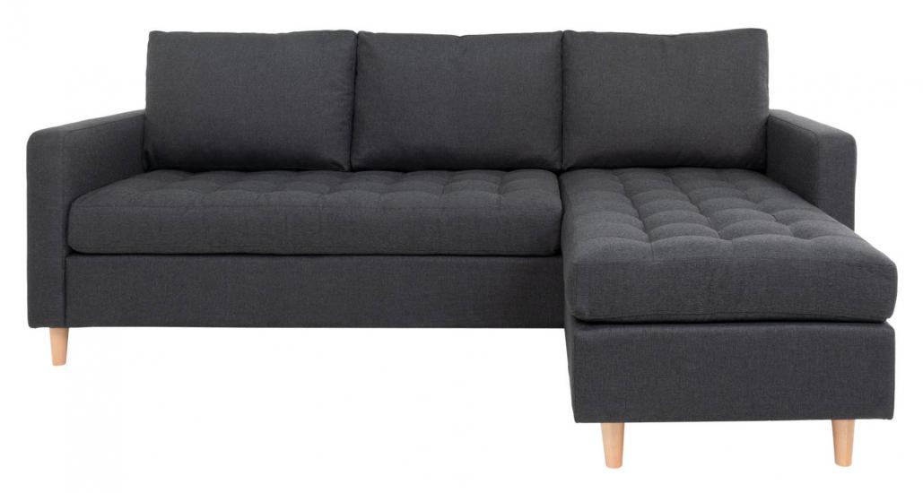 Firenze Sofa m, Flyttbar Sjeselong - Mørkegrå