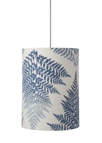 Ebb&Flow - Lampeskjerm, fern leaves graphic, indigo, Ø30