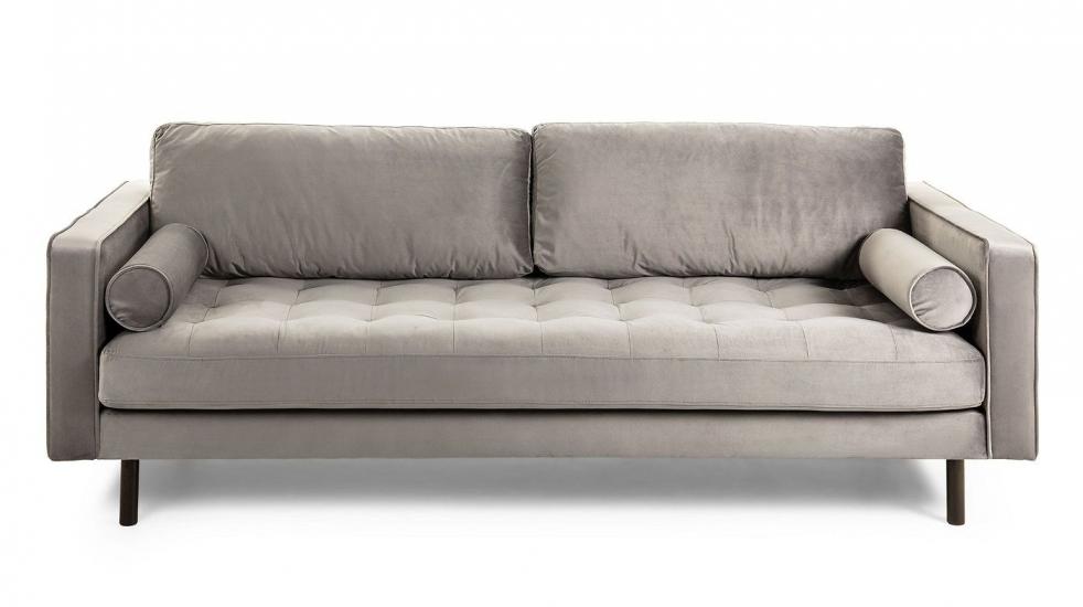 Kave Home Bogart 3-seter Sofa - Grå Velur