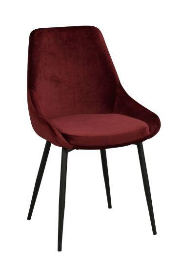 Sierra Spisebordstol, Rød Velur