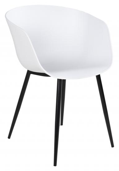 Roda Spisebordstol - Hvit/Sort