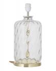 Ebb&Flow - Pillar lampefot, Klar dimples, Gull base