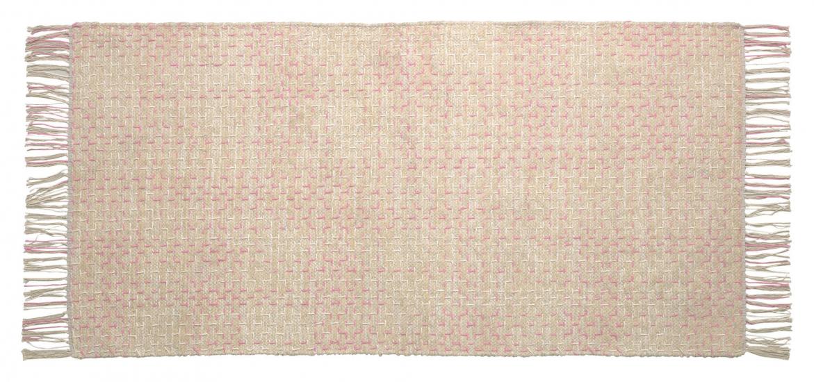 Kave Home Nur Tepper - Pink/Beige, 140x70