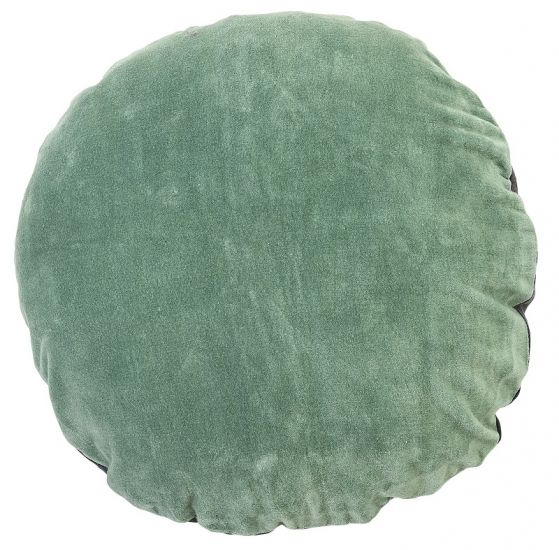 Bloomingville - Pute - Grønn Fløyel - rund