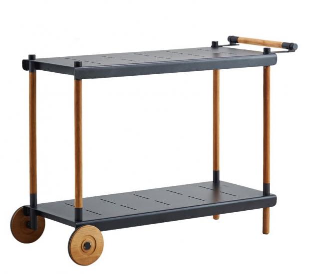 Cane-line - Frame Trillebord - Grå/teak