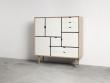 Andersen Furniture - S3 Høyskjenk - Eik hvitolje - Hvit