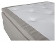 Furudal 7-zoner Kontinentalseng Fast/Fast, Beige stoff, 160x200