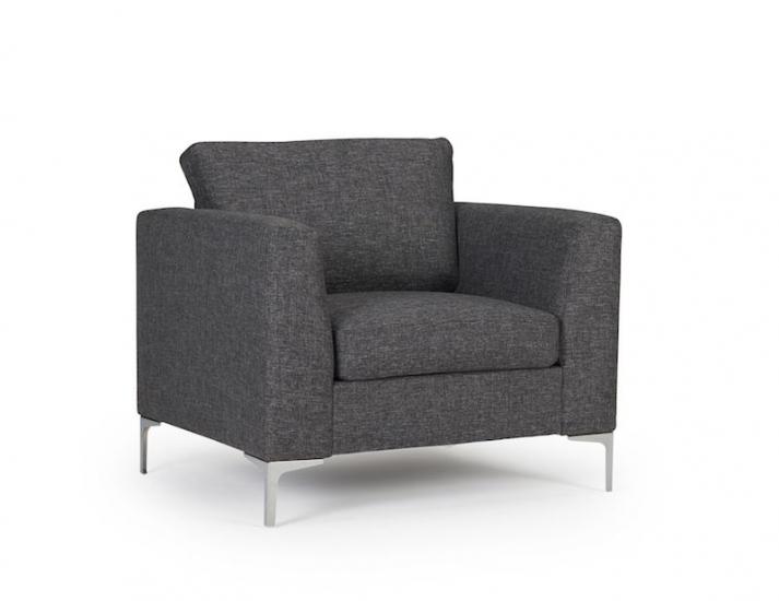 Kragelund Furniture - Shea lenestol - Mørk grå
