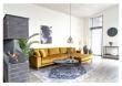 Lido Lounge Sofa m, høyrevendt sjeselong - Sennepsgul Velour