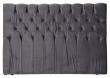 Särna sengegavl, Mørkegrå velour, B:180