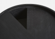 WOUD - Arc sidebord, sort m. grå laminat, Ø42