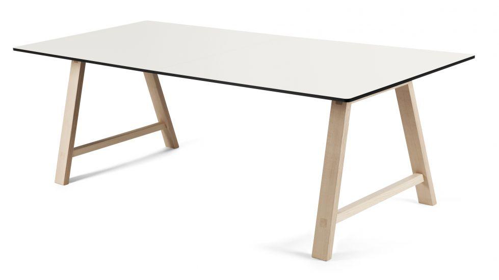 Andersen Furniture - T1 Spisebord m. Uttrekk og ben i lys tre - 180cm
