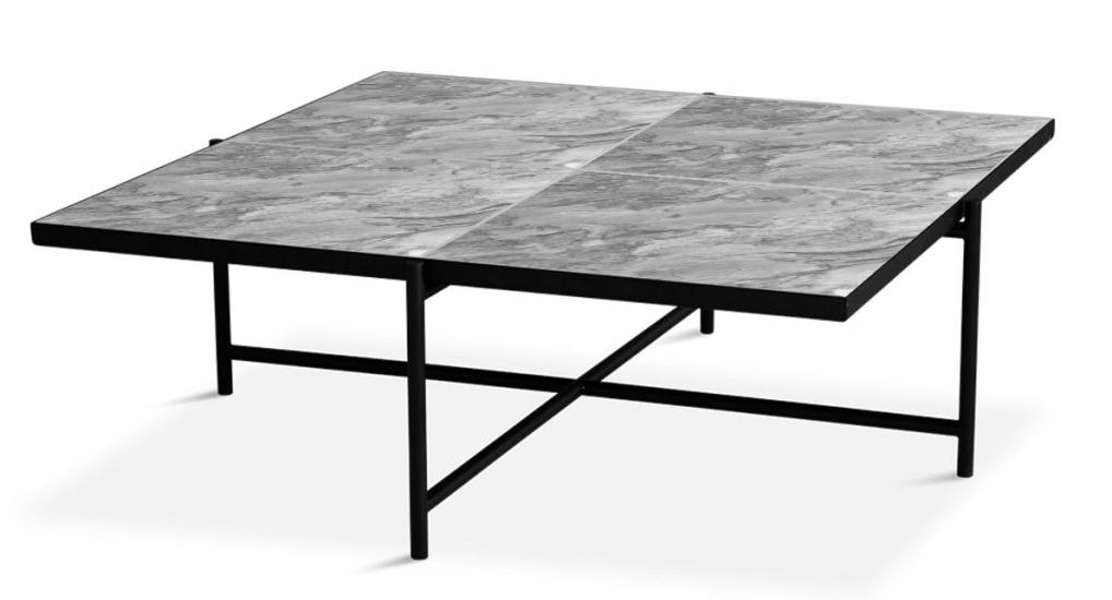 HANDVÄRK - Sofabord 92x92 - Grå marmor