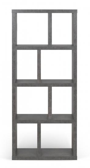 Temahome Berlin Reol - Mørk Betongrå, 159x70