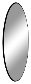 Jersey Speil m, Sort Ramme, Ø100