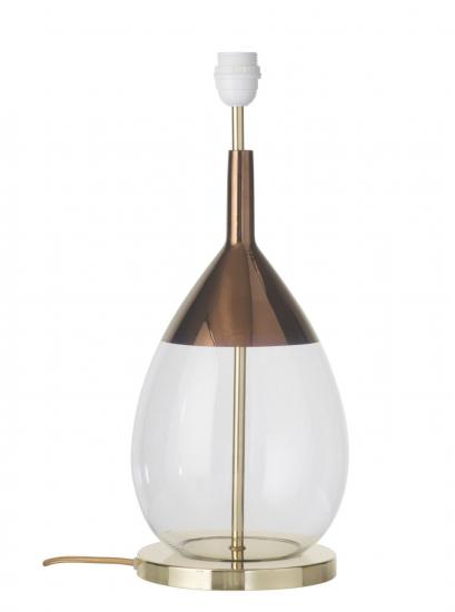 Ebb&Flow - Lute lampefot, Klar/copper, Gull base