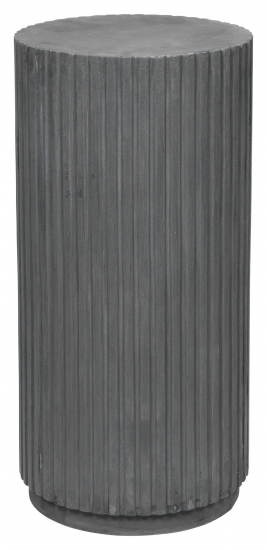 Rillo Podie Sidebord - Fiberbetong Charcoal, Ø38