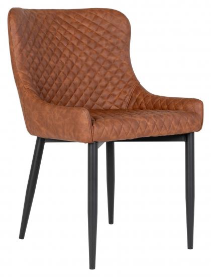 Boston Spisebordstol - Vintake Brun Kunstskinn