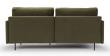 Kragelund Askov Round Sofa, venstre sjeselong Grønn Velur, Metall