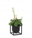 by Lassen - Kubus Flowerpot 10, sort metall
