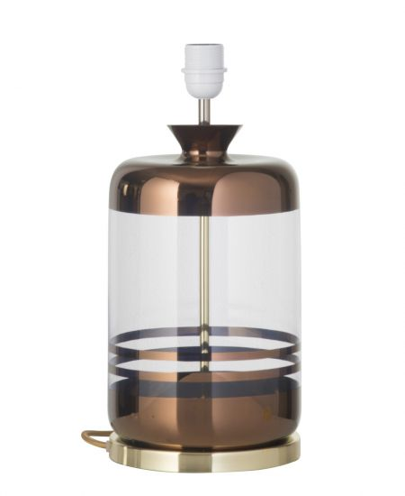 Ebb&Flow - Pillar lampefot, copper stripes/Klar, Gull base