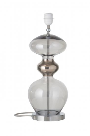 Ebb&Flow - Futura lampefot, smokey grå, Sølv base