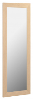 Kave Home Yvaine Speil m. bred ramme - Naturlig finish, 80,5x180,5