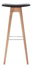 Andersen Furniture - HC1 Barstol - Lys tre m. svart sete