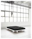 Japan Sengeramme Hvid, Latex Futon madrass, Sort, 160X200