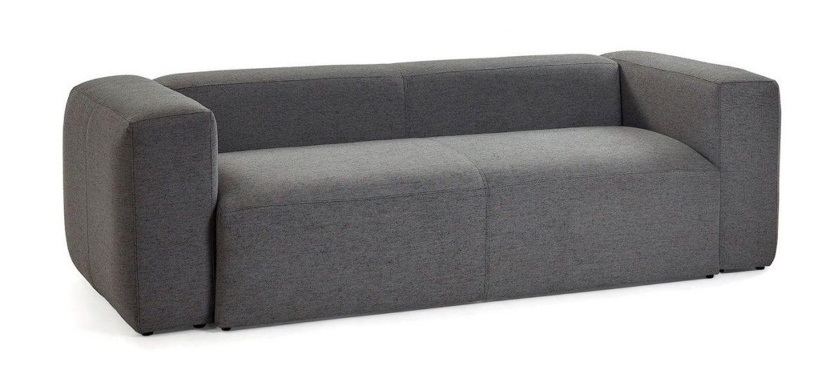 Kave Home - Blok 3-pers. Sofa - Mørk grå