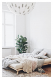 Senza Sengeramme Natur, Comfort Futon madrass, Sort, 140x200