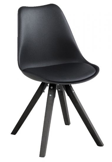 Fryd Spisestuestol - Svart m/ben i svart