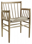 FDB Møbler J81 Spisebordstol m, armlene - Eik/Papirflett