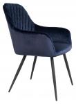 Harbo Spisebordsstol - Blå Velour