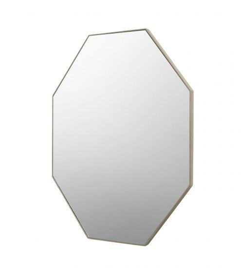 Corner Spejl 8-kantet m. champagne beige ramme